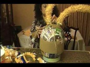 Como hacer piñatas de Figura.Video 3. Curso de como hacer piñatas.