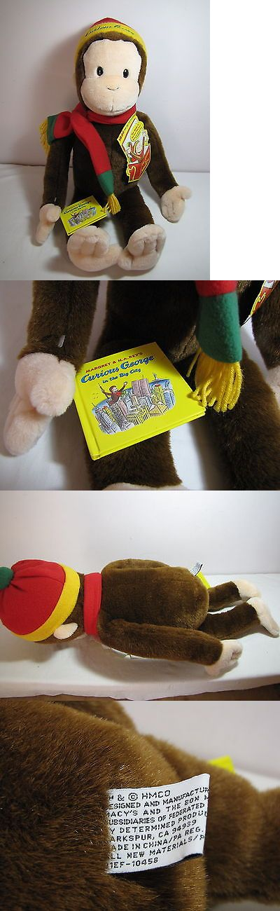 Curious George 19215: Macy Curious George 24 Plush Toy Monkey Doll Stuffed Animal Mini Book Cap Scarf -> BUY IT NOW ONLY: $35 on eBay!