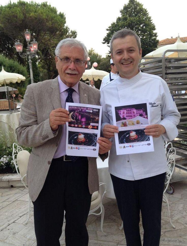 Donato Troiano, direttore di INformaCIBO, e Claudio Di Bernardo, executive chef del Grand Hotel Rimini prima della cena