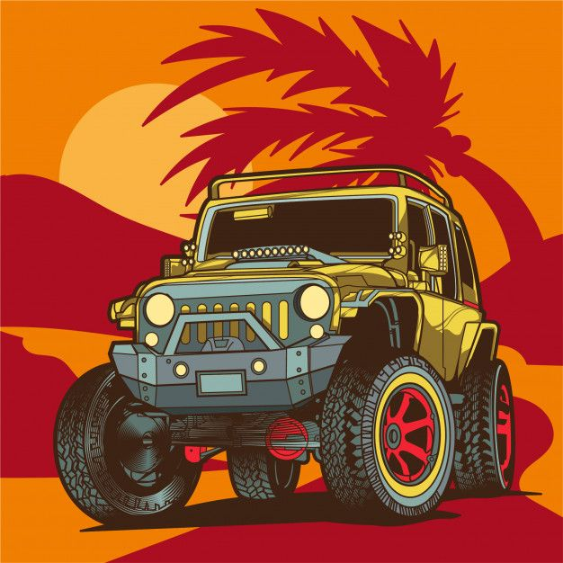 Off Road Jeep Illustration Ilustracao De Carro Off Road Jeep Jipe