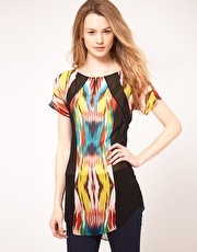 Warehouse Stretched Ikat Tunic