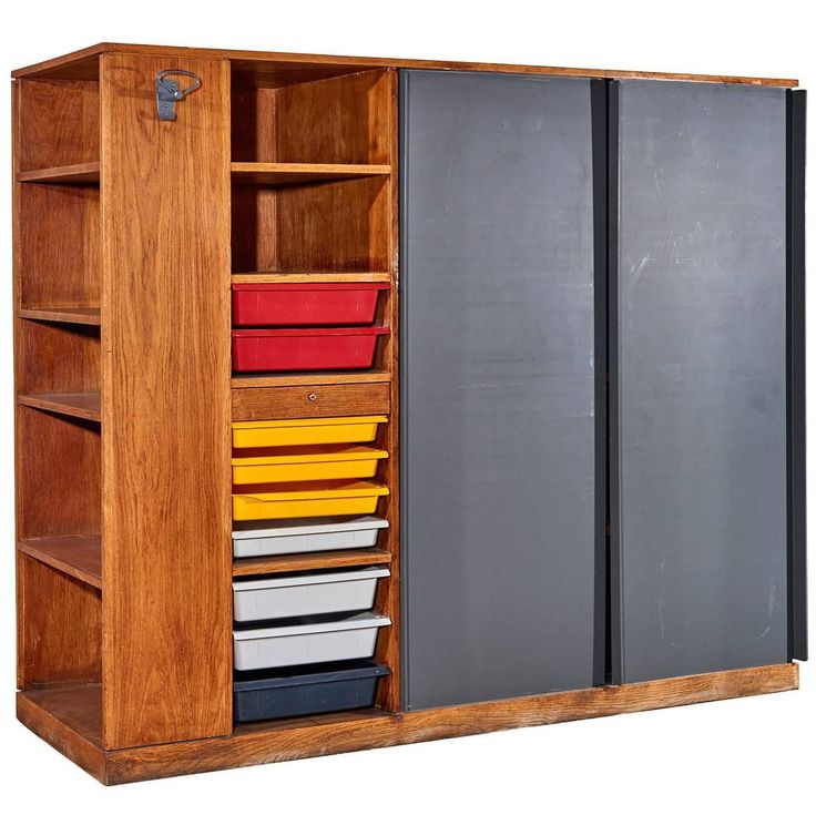 """""""Maison Du Brésil"""" Wardrobe / Room-Divider by Le Corbusier   From a unique collection of antique and modern wardrobes and armoires at https://www.1stdibs.com/furniture/storage-case-pieces/wardrobes-armoires/"""