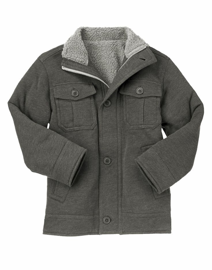 Super soft and stylish jacket with cool pockets and toasty sherpa lining.