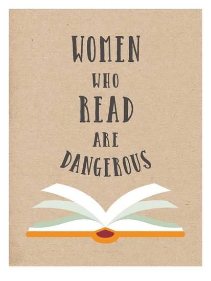 Women Who Read Are Dangerous Prints by Peach & Gold at AllPosters.com