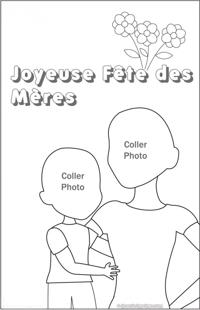 17 best images about coloriages pour enfant et adult on pinterest image search coloring pages - Dessin fete des meres ...