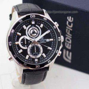 jam tangan edififice EFR-547L kulit hitam