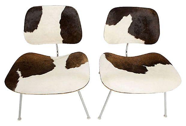 Herman Miller LCM Cowhide Chairs, Pair on OneKingsLane.com