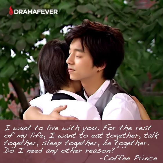 50 K-drama quotes about true love  <3 Coffee Prince *sigh*
