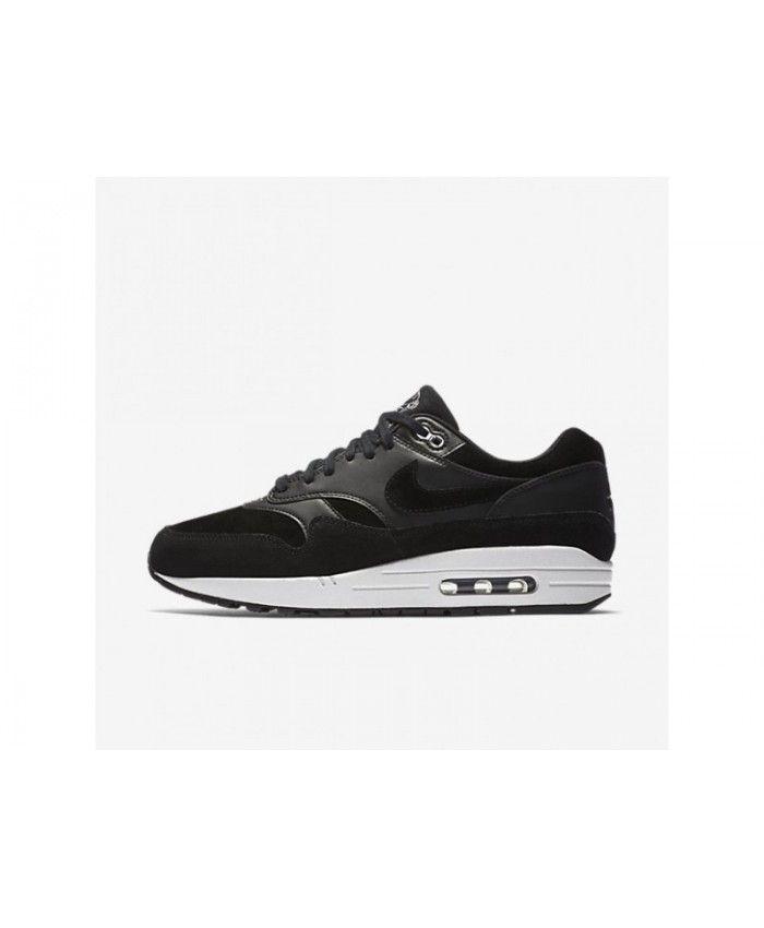 277c27eb41 Best Nike Air Max 1 Premium Men's Black/Off-White/Chrome Shoes, 875844-001