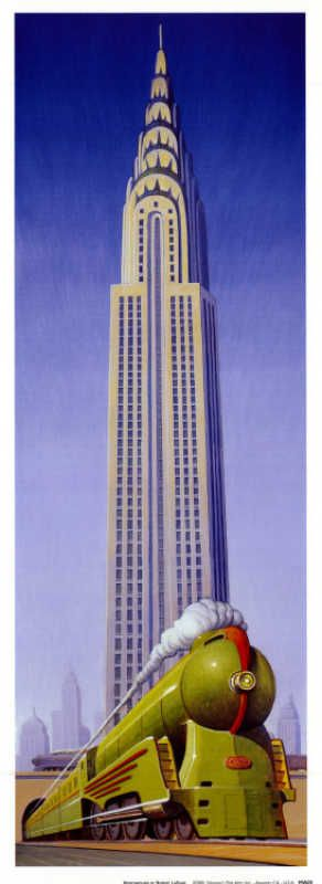 """Poster """"Northbound"""" by Robert LaDuke. Shows the Chrysler Building in NYC. Recommended by Sumita Mukherjee"""" author of keiko and kenzo educational adventure books. www.keikokenzo.com"""
