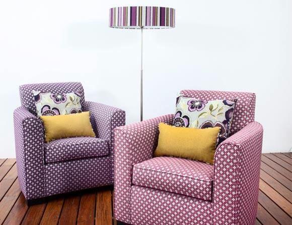 Confecciones | Entretejidos Sillones individuales tapizados con nuestra colección Fiore #decoración #tapicería