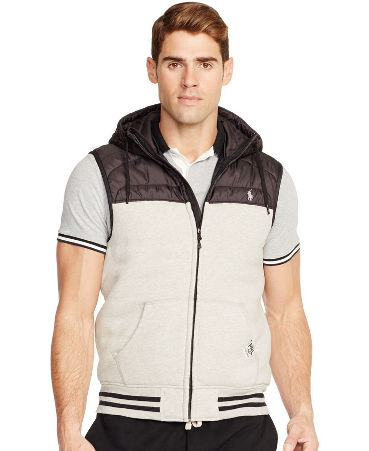 Polo Ralph Lauren Quilted Fleece Vest With Hood - Coats & Jackets - Men -  Macy's
