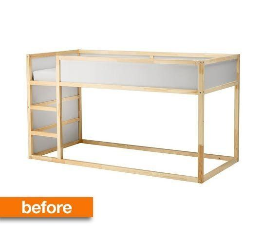 Before & After: IKEA Hack Renders KURA Bed Unrecognizable...and Amazing — Ikea Hackers | Apartment Therapy