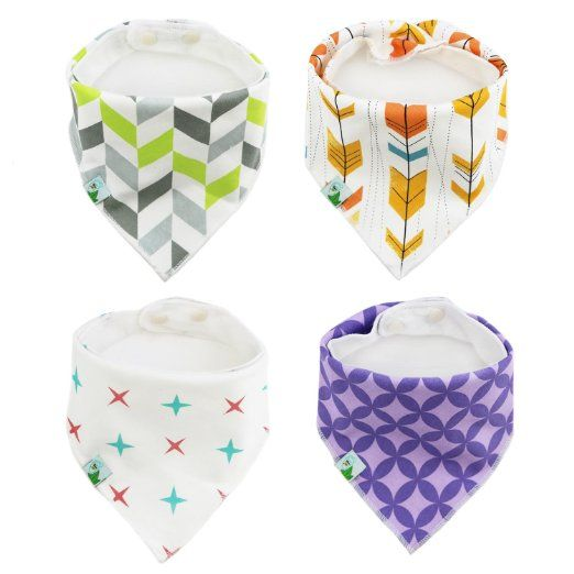 Amazon.com : Baby Bandana Bibs, Unisex 4 Pack Cute Bib with Snaps - Best for Babies Drooling, Teething and Feeding - 100% Soft Cotton & Waterproof Fleece Backing. Perfect Baby Shower Gift Set for Boys & Girls : Baby