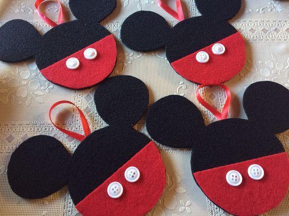 How to Make Felt Mickey & Minnie Ornaments: