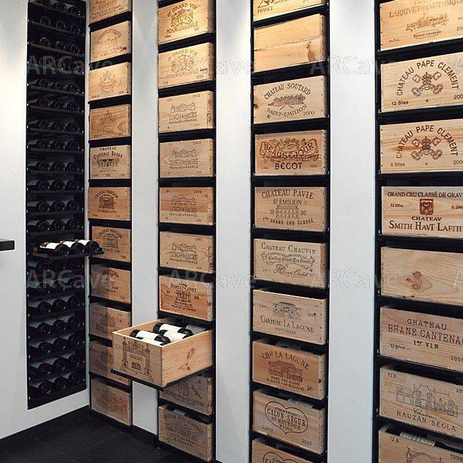 Cave à vin.. Or just a possible DIY storage unit from wine crates!!!