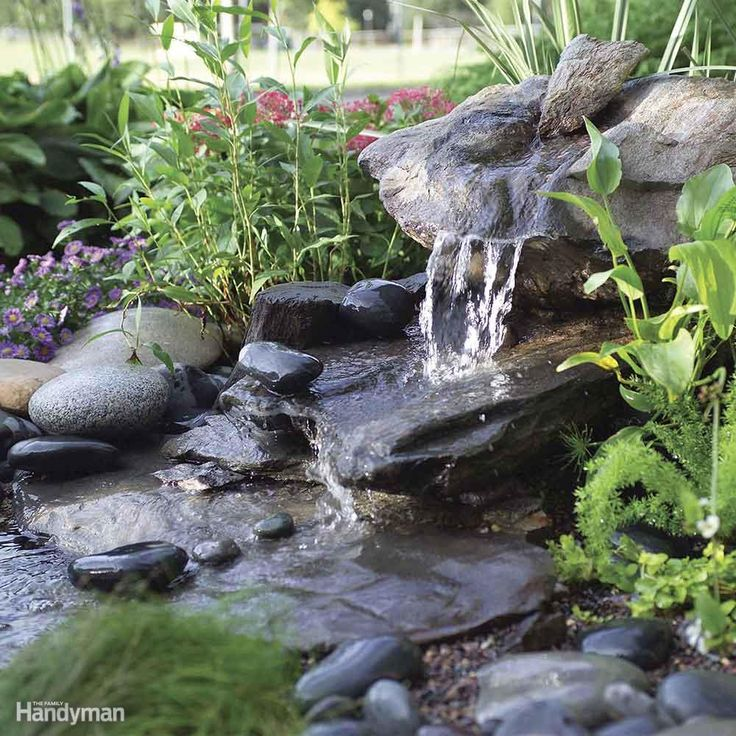DIY a Low Maintenance Water Feature - If a water feature you can assemble in a day is more your speed, this is the project for you. This fountain is designed around a stone from which the water will flow out of into a gravel-filled reservoir below, and circulate back up through the rock with the help of a pump. You can either look for a rock, that comes pre-drilled, at local stone suppliers, or you can drill a hole through it yourself with a rotary hammer drill. Best of all, this water…