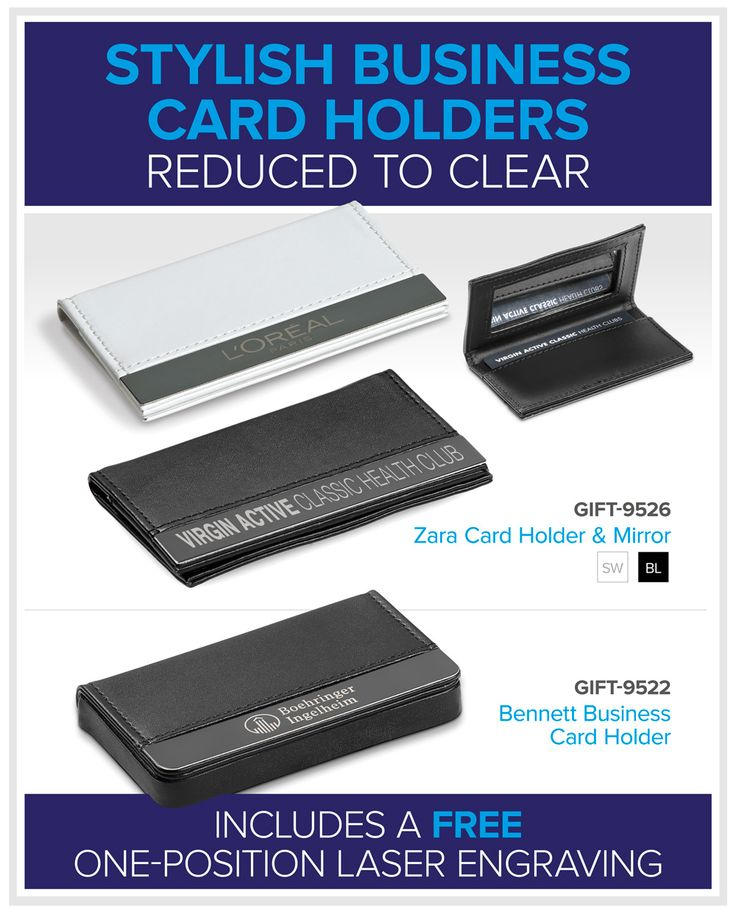Stylish Business Card Holders – Reduced To Clear – Bell Jar Pty Ltd