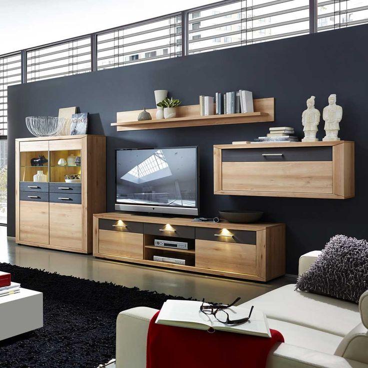 Více než 25 nejlepších nápadů na Pinterestu na téma Wohnwand led - wohnzimmerschrank modern wohnzimmer