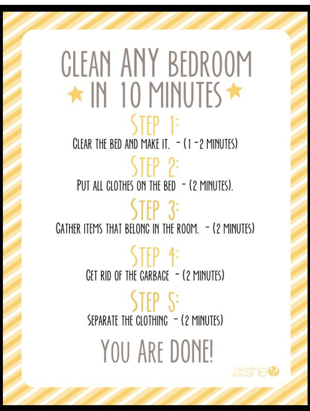 25 best ideas about bedroom cleaning on pinterest cleaning room room organization and moving - Five tips for quick cleaning ...