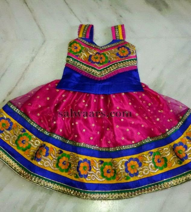 Pink Skirt with Mirrors | Indian Dresses