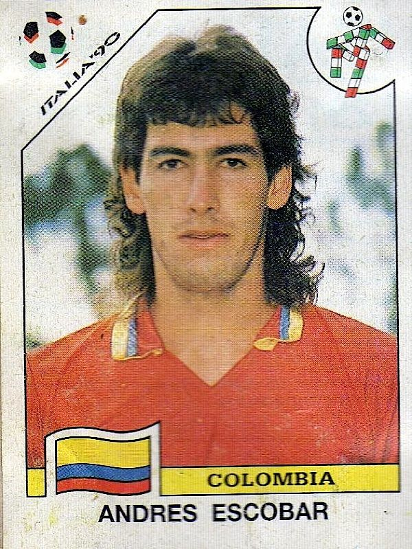Andrés Escobar (1967 - 1994)Colombian soccer player killed after he accidentally scored a goal against his team in a World Cup match