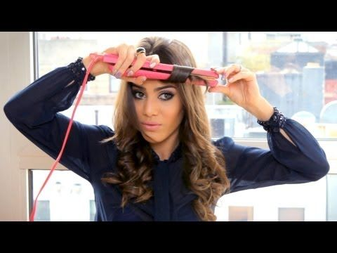 Curling with a Straightener by Camila Coelho - YouTube