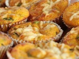 Muffiny z batátov so špenátom a kozím syrom