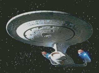 Cross Stitch Chart Pattern of Star Trek USS Enterprise