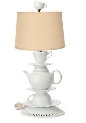 DIY Tea lamp. I would love to do this with black and emerald green colors to match our living room.