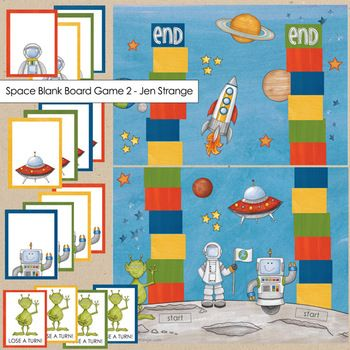 Space blank board game detail.  Assemble as file folder games. #filefoldergame #education