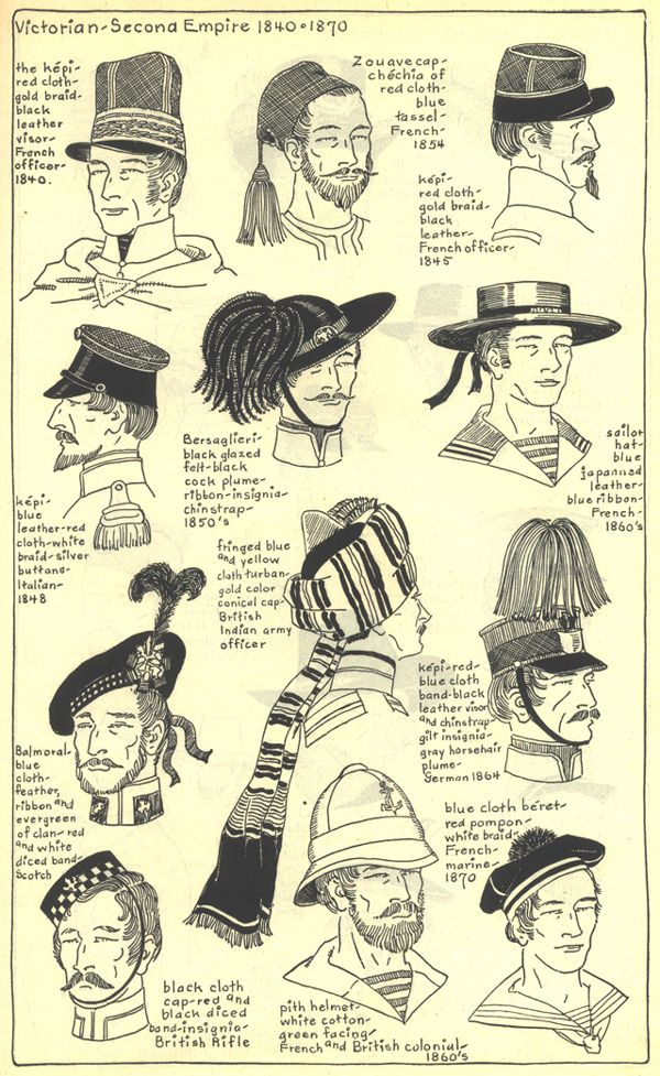 Headdresses, 1840-60's. Village Hat Shop Gallery. Chapter 15 - Victorian and Second Empire 1840-1870.
