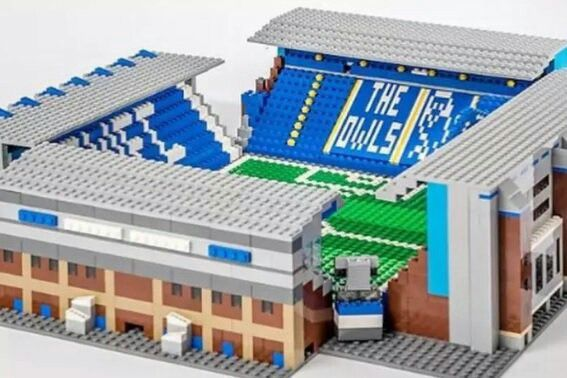 A dedicated Wednesday fan has built Hillsborough out of Lego.