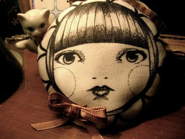 Hand drawn pin cushion