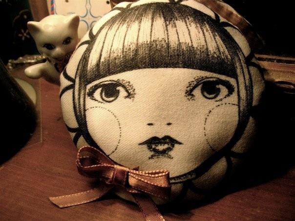 Hand drawn pin cushion