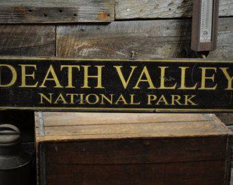 Custom National Park Sign - Primitive Rustic Hand Made Vintage Wooden ENS1000286
