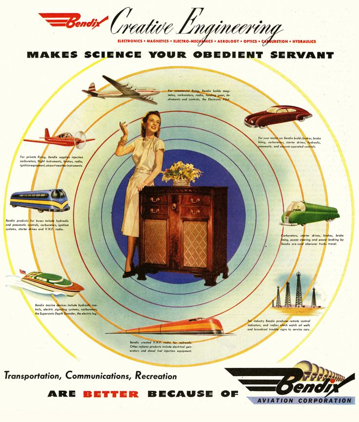 Make science your obedient servant (vintage ad, 1946) - Boing Boing
