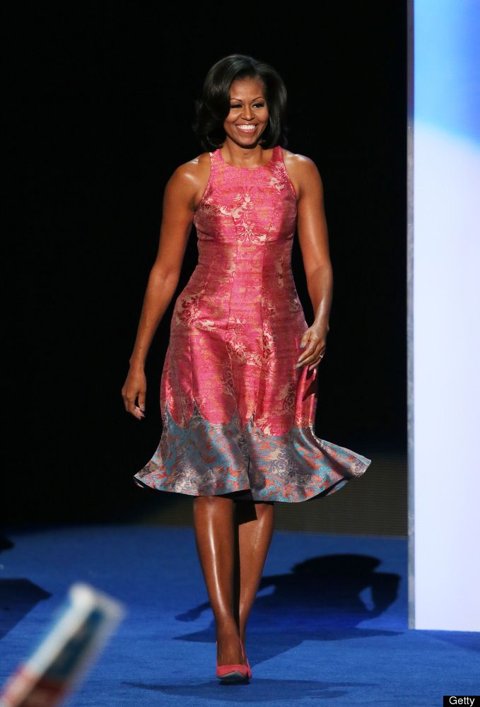 First Lady Michelle Obama at the Democratic National Convention, Tuesday, September 4, 2012