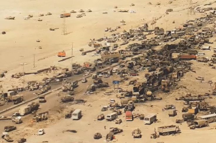 Iraqi Forces Were Annihilated While Retreating On 'The Highway Of Death' 25 Years Ago