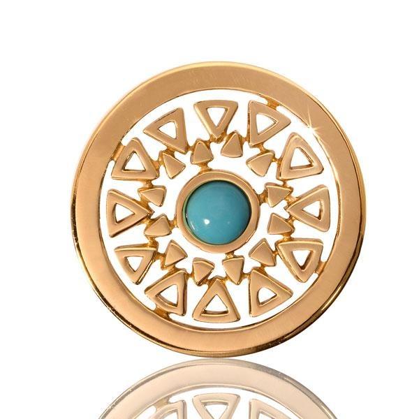 Nikki Lissoni Turquoise Inner Beauty Coin