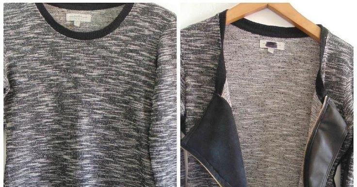 Cómo convertir un jersey en chaqueta