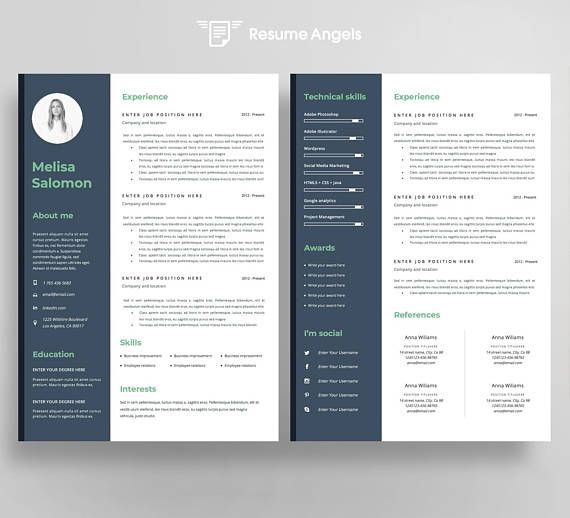 63 best Creative and professional Resume Templates images on - microsoft word references template