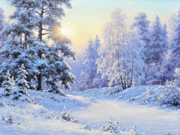 156 best Painting: winter scenes images on Pinterest ...