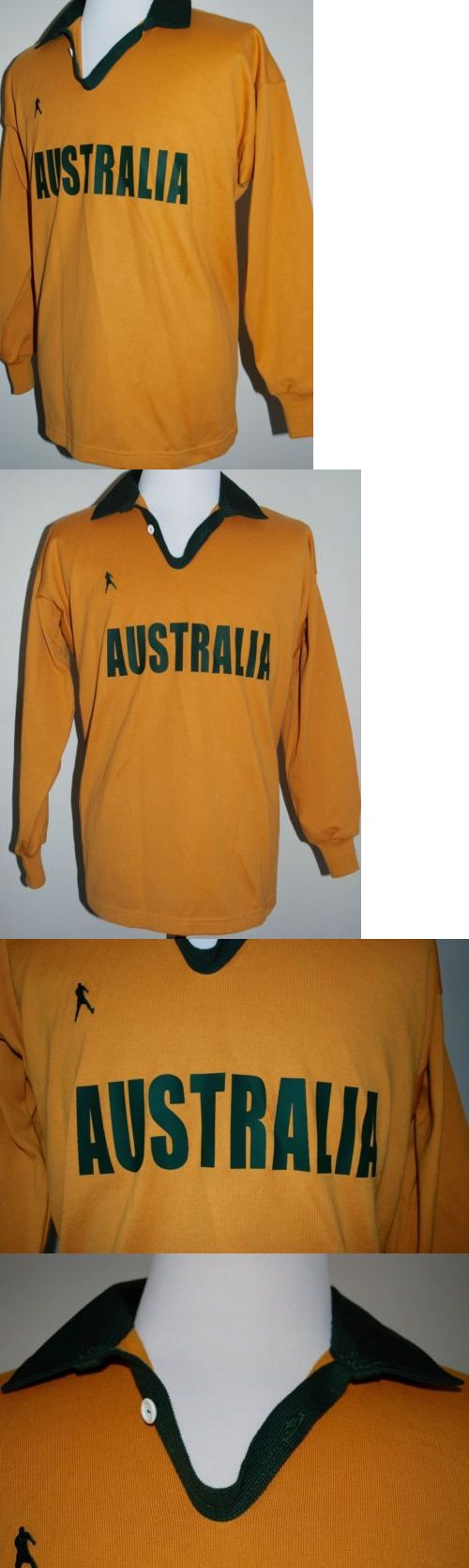 Rugby 21563: New! Australia Wallabies Rugby Jersey Trikot Shirt - Thick Cotton - Mens Large -> BUY IT NOW ONLY: $49.99 on eBay!