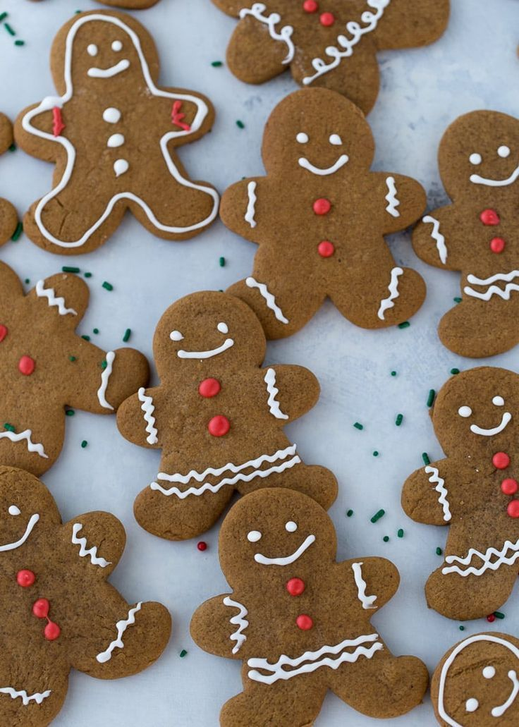 An easy recipe for gingerbread cookies that are perfect every time. Perfectly spiced dough that is easy to work with and royal icing recipe for decorations. #cookies #christmas