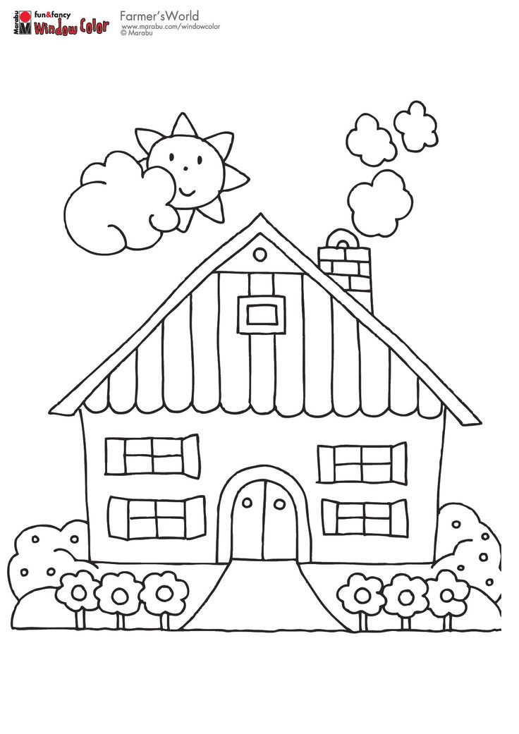 cottage coloring pages - photo#12