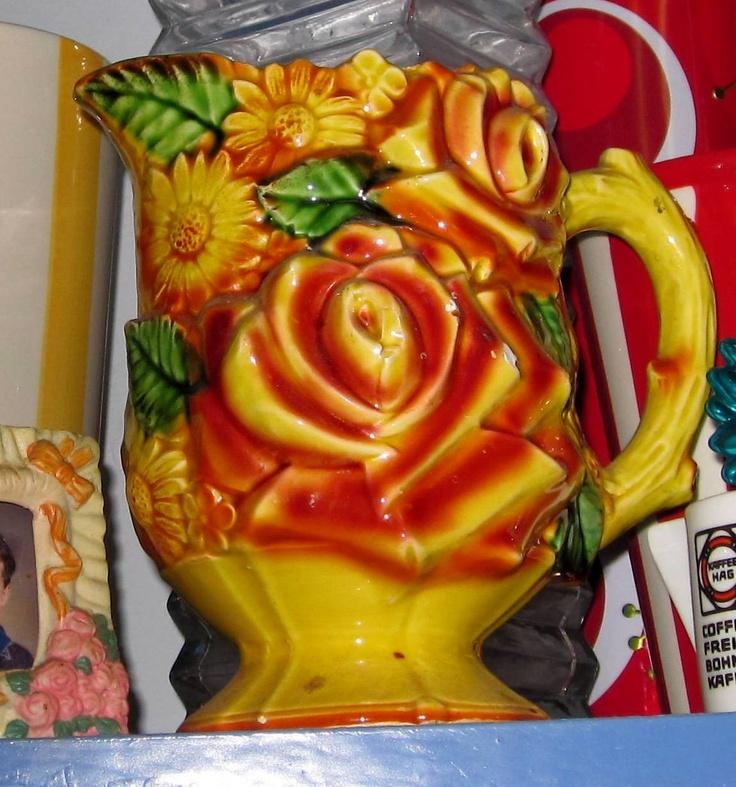 a pretty embossed jug...