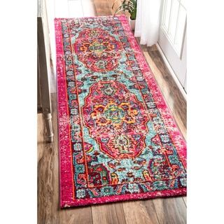 nuLOOM Distressed Abstract Vintage Oriental Multi Runner Rug (2'6 x 8') - 17854730 - Overstock.com Shopping - Great Deals on Nuloom Runner Rugs