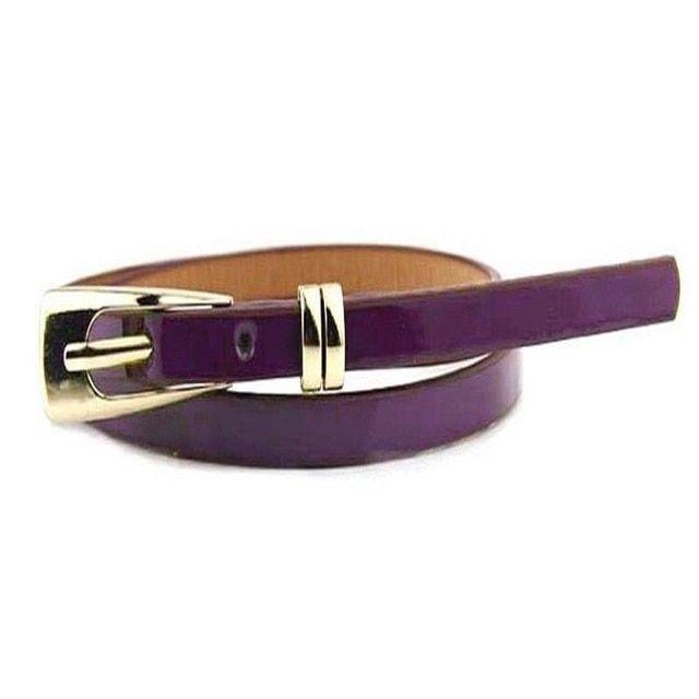 1PC Women Girl Thin Skinny Waist Belt Patent Leather Narrow Waistband Fashion