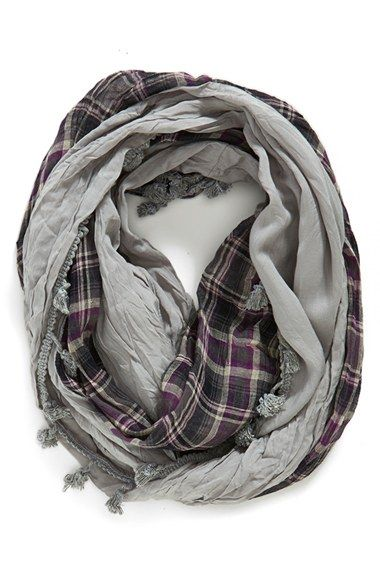 JULES+SMITH+Plaid+Infinity+Scarf+available+at+#Nordstrom